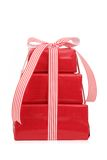 Stack of red gifts Royalty Free Stock Photography