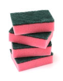 Stack of Red Kitchen Sponges Stock Photo