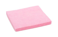 Stack of red napkins, isolated Stock Photo