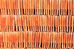 Stack of red roof tile. Pattern Stock Image