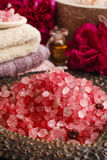 Stack of red sea salt Stock Images