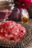 Stack of red sea salt Stock Photography