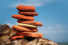 Stack of red stones Royalty Free Stock Photography