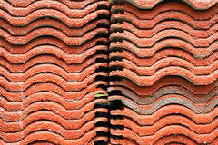 Stack of red tile roof Stock Photo