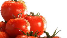 Stack of red tomatoes rotate stock video footage
