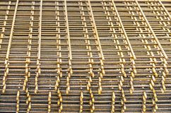 Stack of reinforcement meshes royalty free stock image