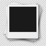 Stack of Retro Photo Frames made in Realistic Style. Vector EPS1 Stock Photo
