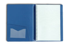Stack of ring binder book or blue notebook Royalty Free Stock Photo