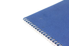 Stack of ring binder book or blue notebook Stock Image