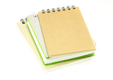Stack of ring binder book or notebook e Royalty Free Stock Image