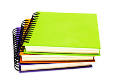 Stack of ring binder book. Or notebook isolated on white Stock Image