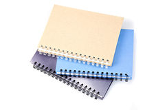 Stack of ring binder book or notebook  on white Stock Photography