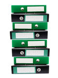 Stack of Ring Binders stock photography