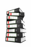 Stack of ring binders Royalty Free Stock Image