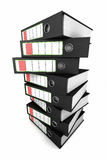 Stack of ring binders Stock Photo