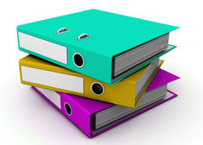Stack of ring binders Stock Photos