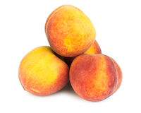 Stack of ripe peaches Royalty Free Stock Image