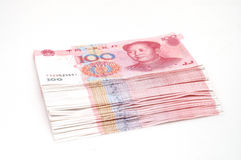 Stack RMB cash. It is isolated stack RMB cash Royalty Free Stock Photos