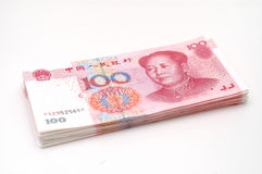Stack RMB cash. It is isolated stack RMB cash Royalty Free Stock Photo
