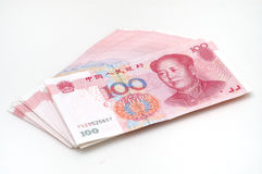 Stack RMB cash. It is isolated stack RMB cash Stock Photos