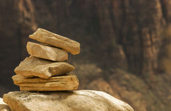 Stack of rocks stock image