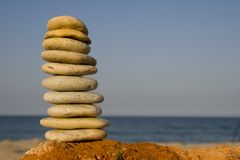 Stack of rocks Royalty Free Stock Photos