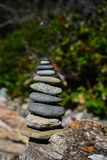 Stack of rocks at beach Royalty Free Stock Photos