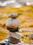Stack Of Rocks On Norwegian Mountain, Norway Nature Stock Images