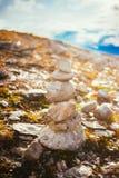 Stack Of Rocks On Norwegian Mountain, Norway Nature Royalty Free Stock Photo