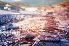 Stack Of Rocks On Norwegian Mountain, Norway Stock Image