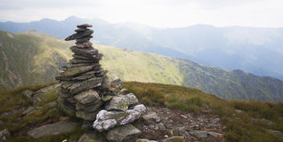 Stack of Rocks on a peak Royalty Free Stock Photos