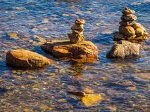 Stack of rocks in water Stock Image