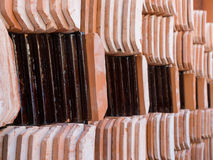 Stack of roof tile Stock Photos