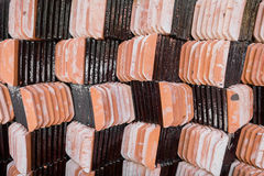 Stack of roof tile Royalty Free Stock Photography