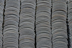 Stack of roof tiles Stock Images
