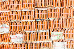 Stack of Roof tiles. Ready for construction Royalty Free Stock Photo