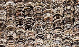 Stack of roofing tiles Royalty Free Stock Images