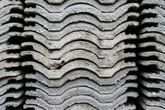 Stack of roofing tiles. Texture Stock Image