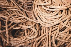 Stack of ropes stock image