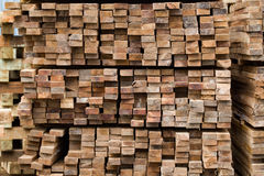 Stack rough cut lumbers Stock Photography
