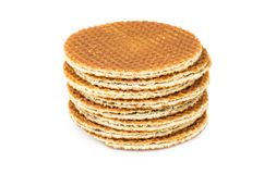 Stack of round waffles Stock Photos
