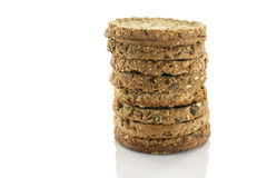 Stack of rusks or biscuits Royalty Free Stock Photos
