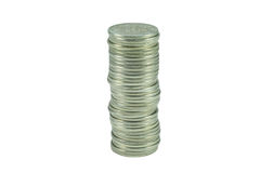 Stack of the russian coins Stock Photos