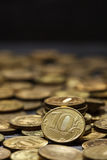 A stack of Russian coins. Royalty Free Stock Photos