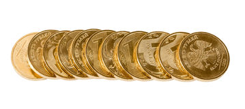 Stack of Russian coins Royalty Free Stock Photography