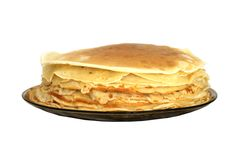 Stack of Russian Pancakes Royalty Free Stock Photography