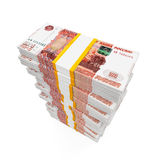 Stack of Russian Ruble Stock Images