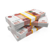 Stack of Russian Ruble Royalty Free Stock Image