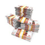 Stack of Russian Ruble Stock Image