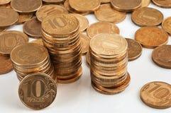 A stack of Russian ten-coin Stock Photos
